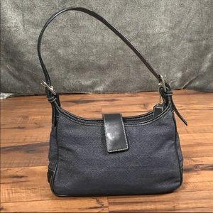 💥Coach blue canvas small hobo shoulder bag